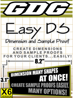 GDG Easy DS (Dimension and Sample Proof) for X6
