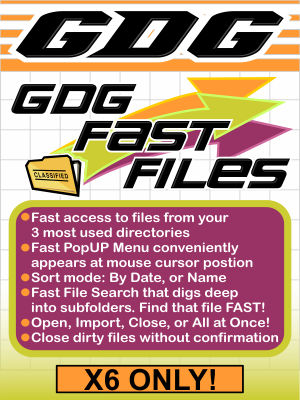 GDG Fast Files for X6