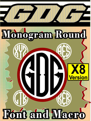 GDG Monogram Round Font and Macro for X8