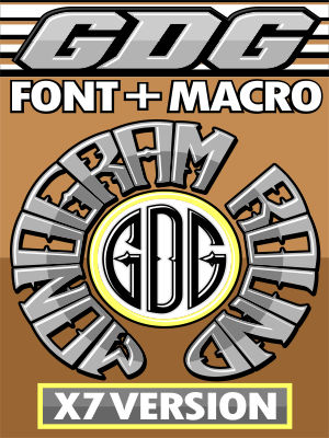 GDG Monogram Round Font and Macro for X7