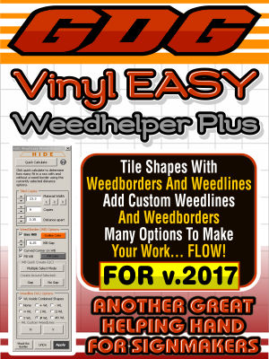 GDG Vinyl Easy Weed Helper Plus for v.2017