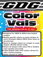 GDG Color Vals for X4 and X5