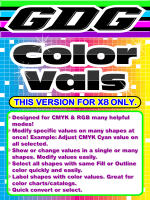 GDG Color Vals for X8