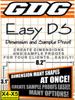 GDG Easy DS (Dimension and Sample Proof) for X4 or X5
