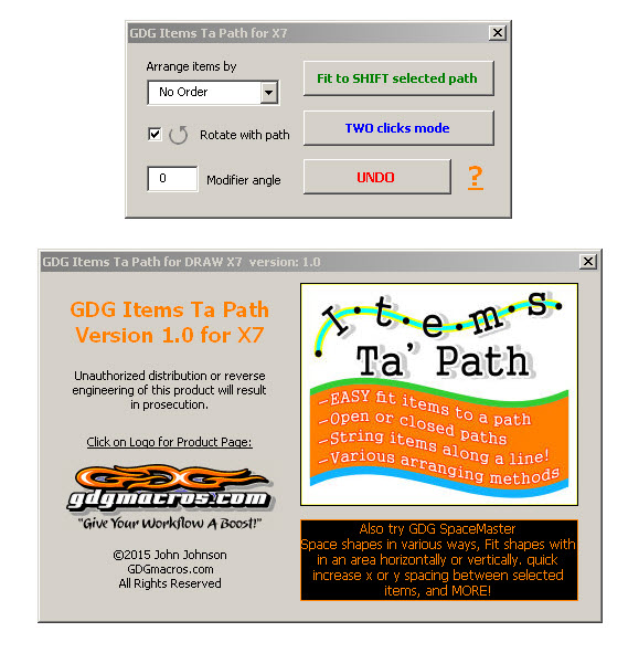 items to path 2017 coreldraw macro form image