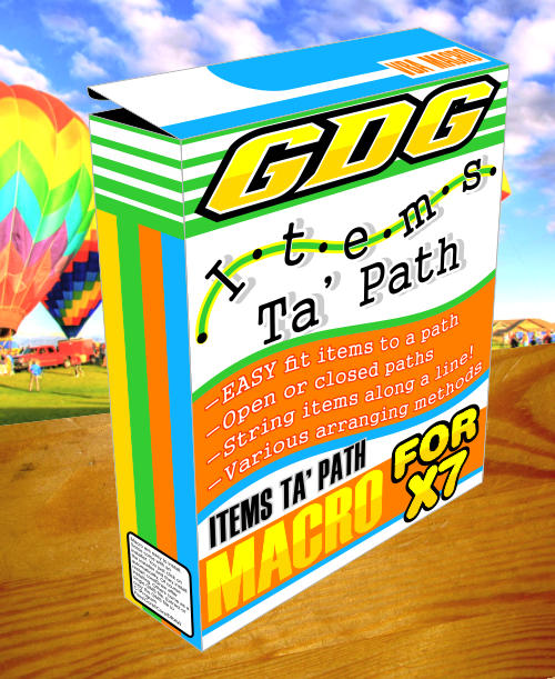 items to path 2017 coreldraw macro box image