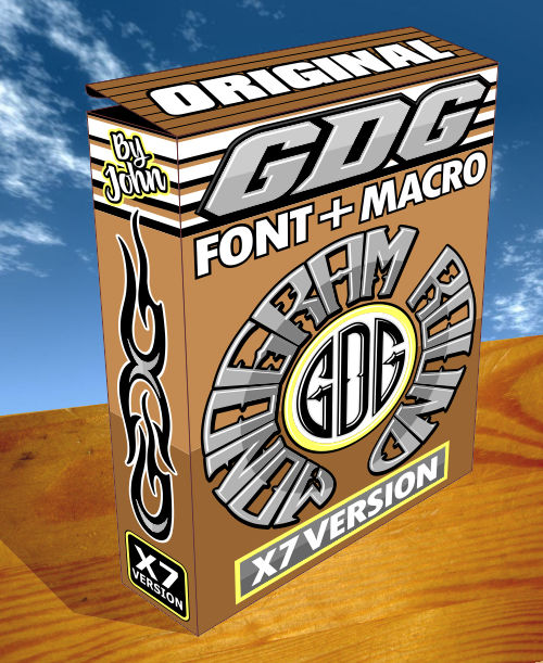 monogram font and macro 3d box pic x7