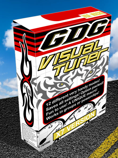 visual tuner macro for corel draw box image