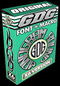 gdg monogram round font and macro box X6