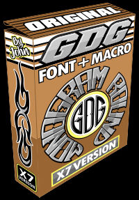 gdg monogram round font and macro box X7